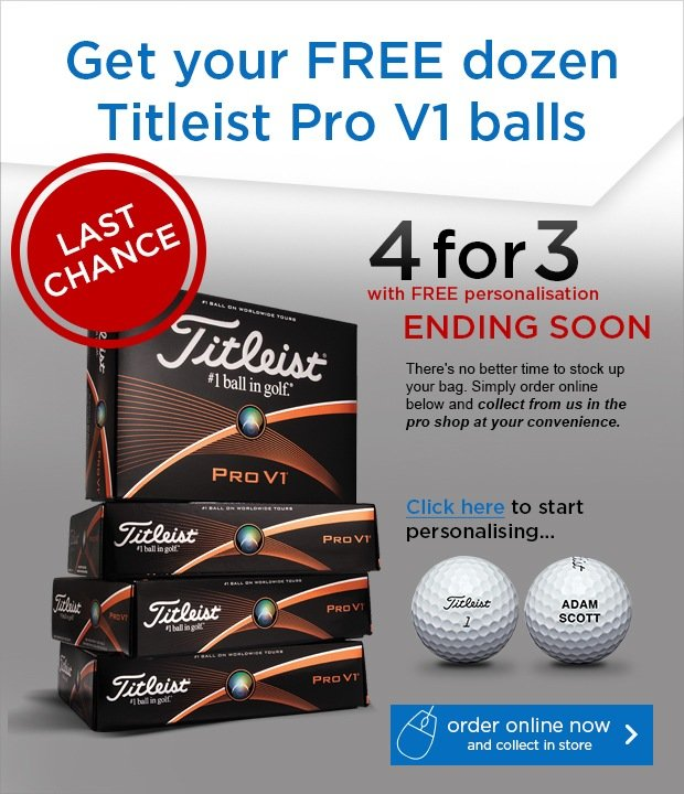 Titleist 4 for 3 - save £44.99